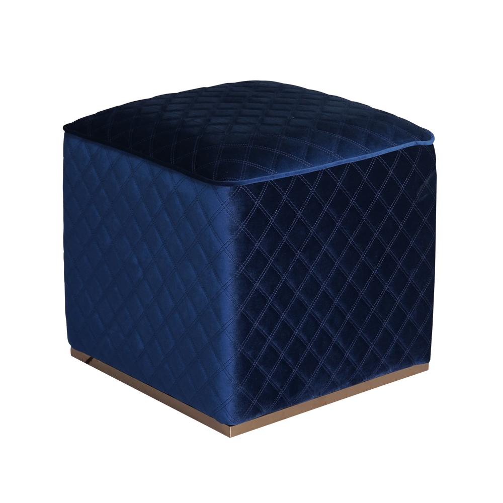 Пуф Cube Blue Velvet в спальню