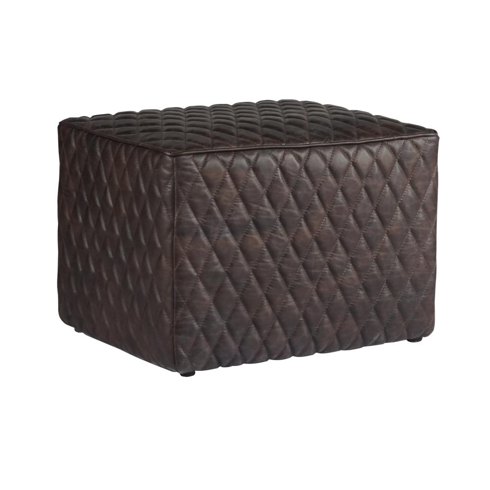 Пуф Rhombus Dark Quilted Leather