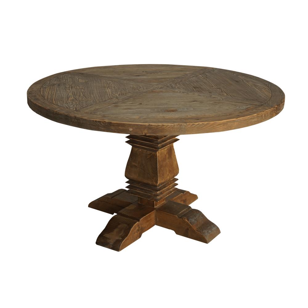 Круглый обеденный стол Eco Round on the Leg в стиле лофт