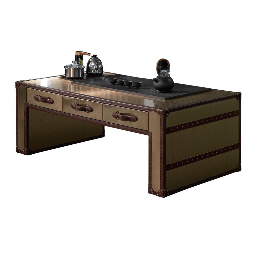 Кофейный столик Columbus Leather Inlays