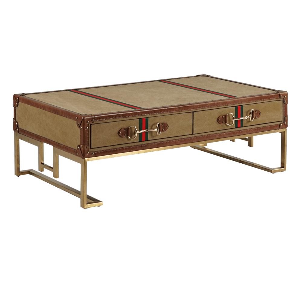 Кофейный столик Tobago Suitcase 2 Drawers