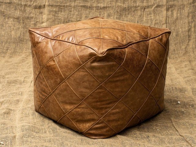 Пуф Softness Quilted Leather