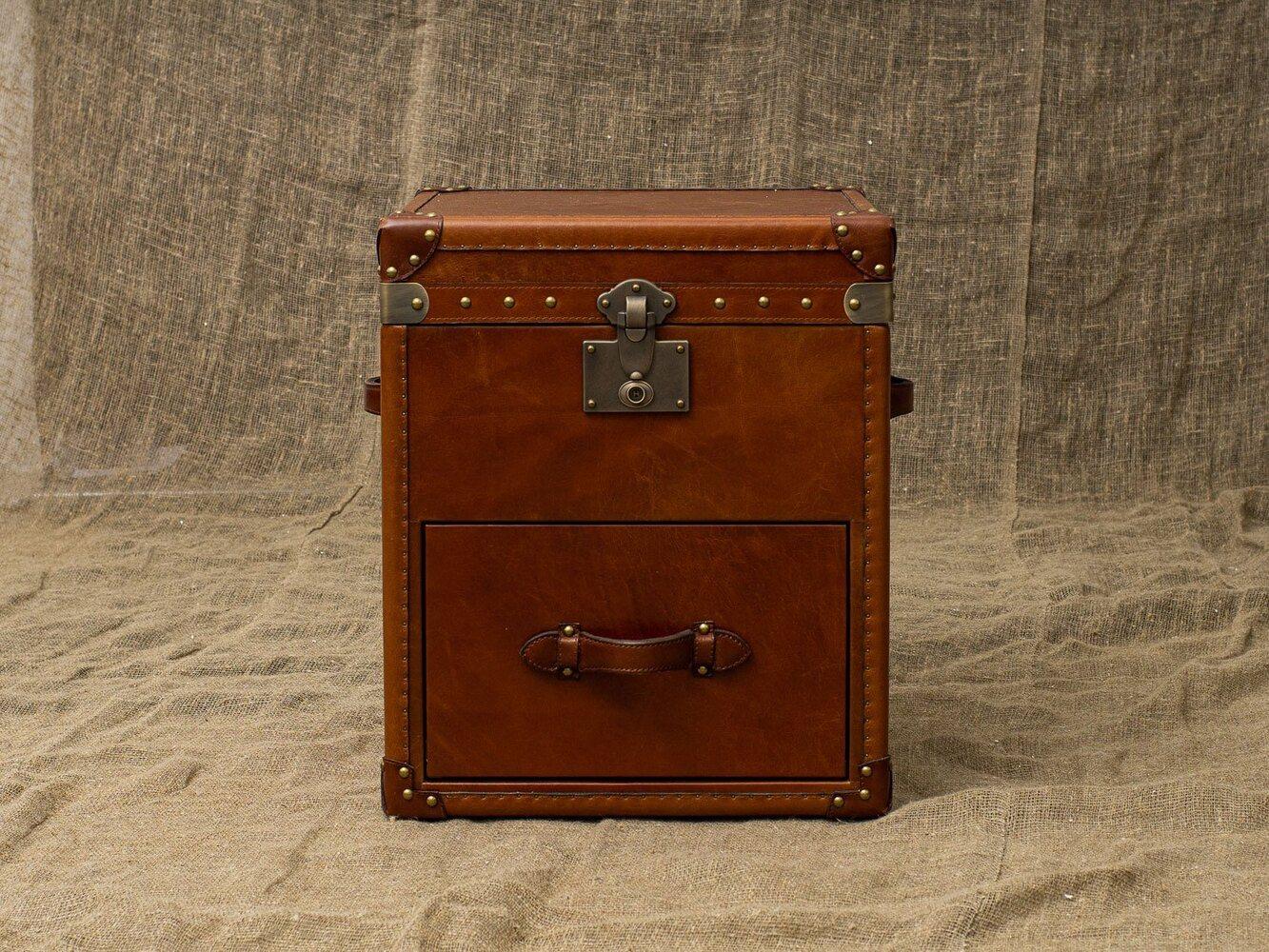 Сундук Hidalgo Decor Leather and Brass