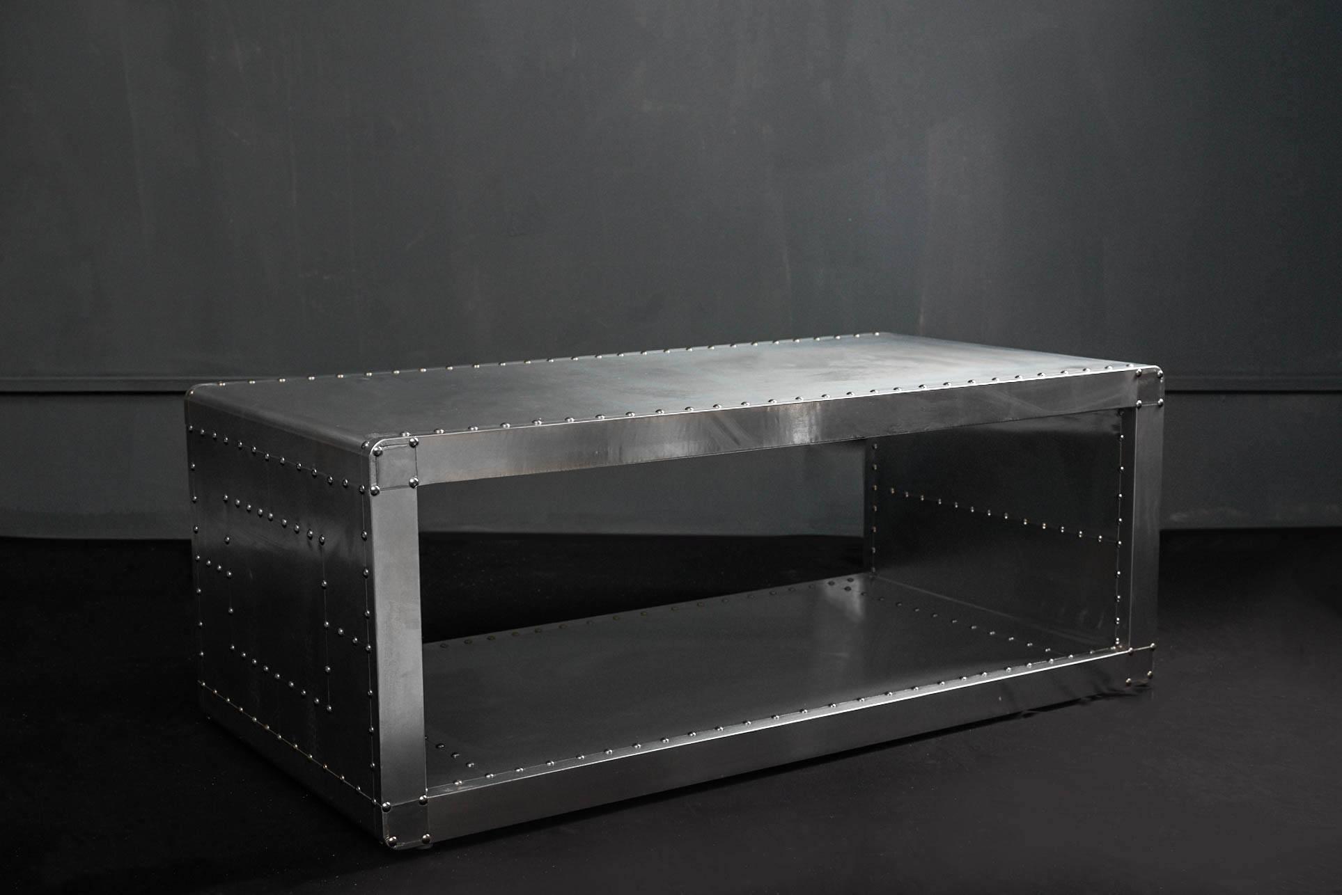Журнальный стол Box Aviator 120 Aluminum Base