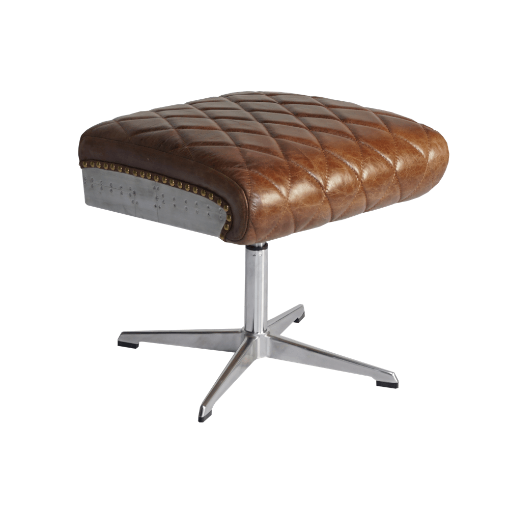 Оттоманка Square Rotates Quilted Leather