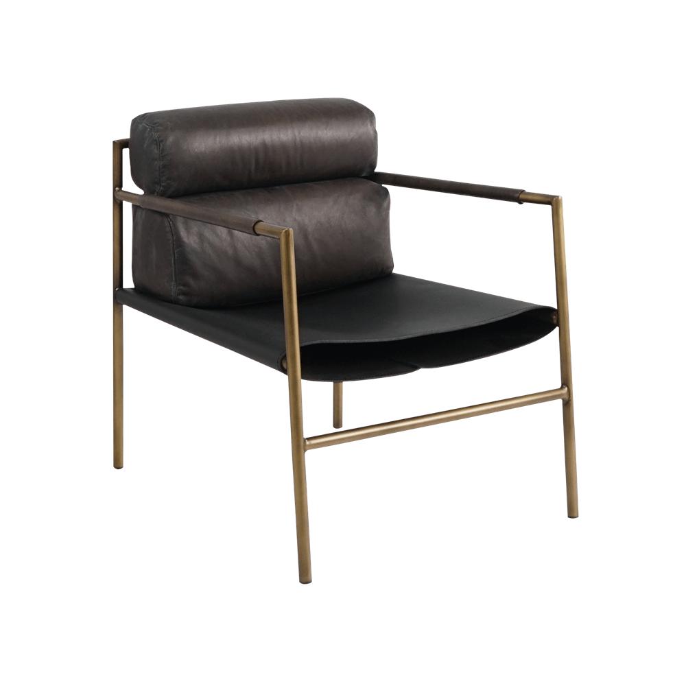 Кресло straight armchair metal base