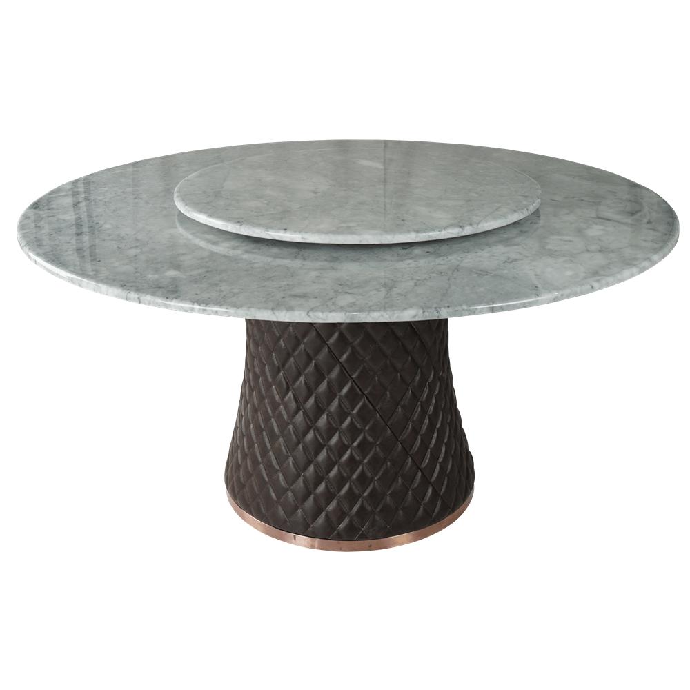 Круглый обеденный стол Marble Mushroom Contrast в лофт