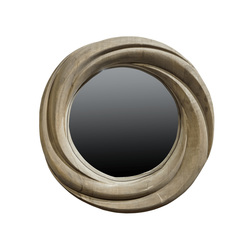Зеркало Whirlpool Round Wooden Frame
