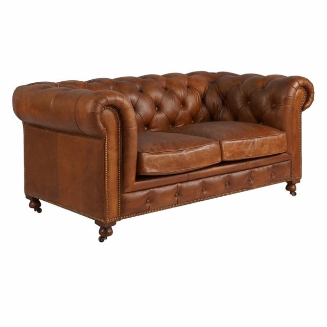 Двухместный диван Boudoir Quilted Leather