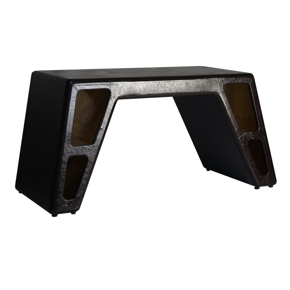 ТВ-тумба Stargate Brass and PU-Leather в лофт