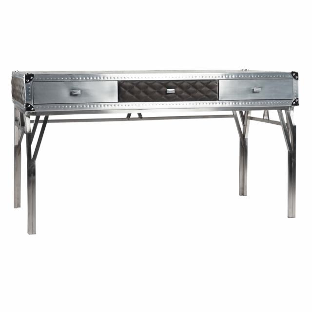 Консоль-столик с ящиками Goldman Aluminum and Steel в стиле лофт