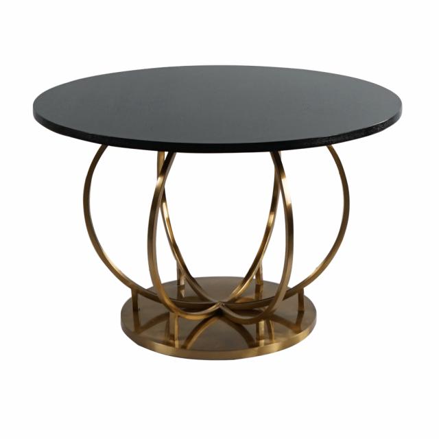 Круглый обеденный стол Meredian Gold Steel для кухни