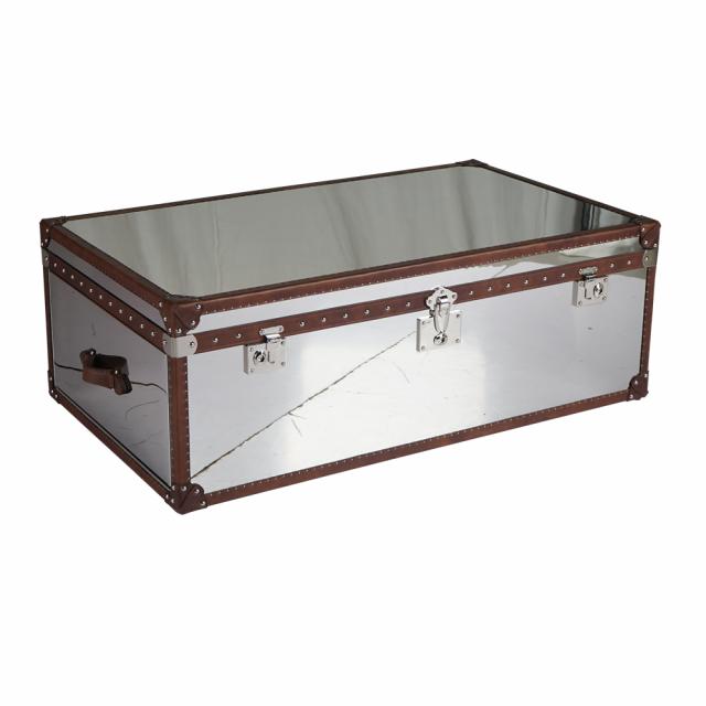 Кофейный столик Gloss Alum Steel в loft-стиле