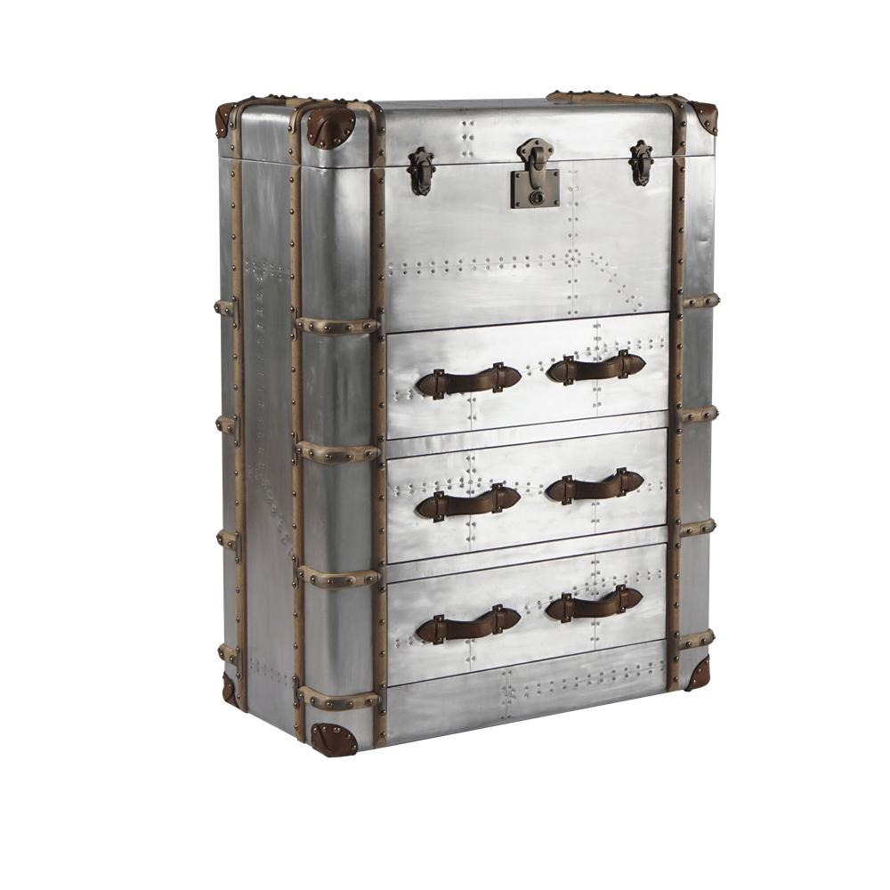 Тумба Old Refrigerator, Aluminum Finish