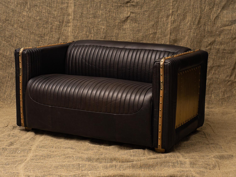 Двухместный диван Baron, Brass Inserts