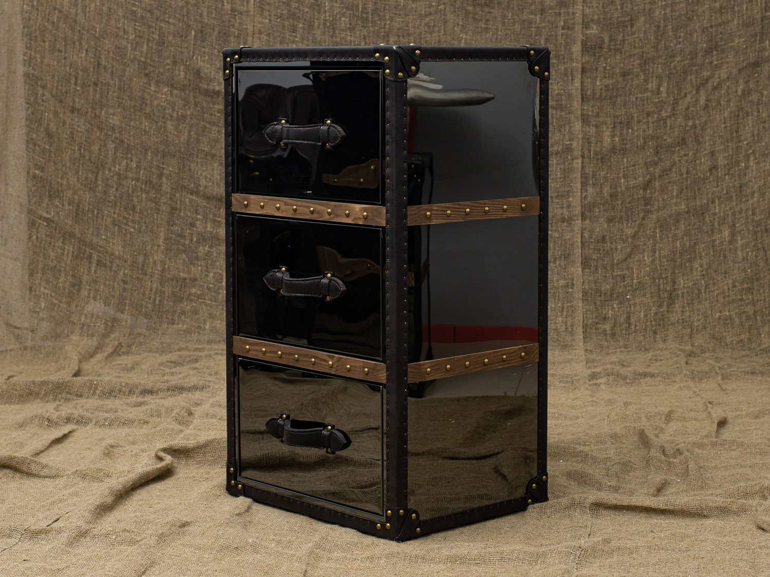 Тумба Onyx 3 Drawers Black Steel