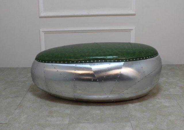 Банкетка Elliptical Bench Oval Aluminum