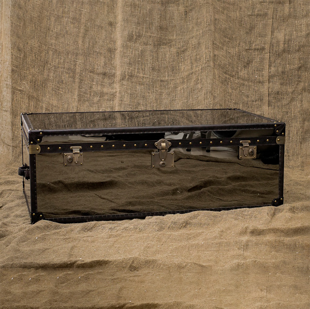 Кофейный столик Gloss Black Steel в loft-стиле
