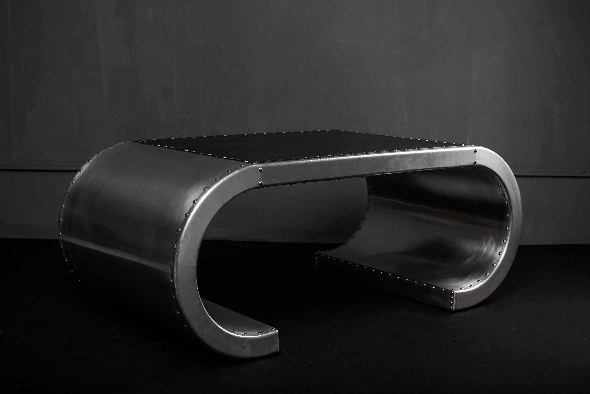 Стол Coffee Aviator Stels Aluminum в loft-стиле