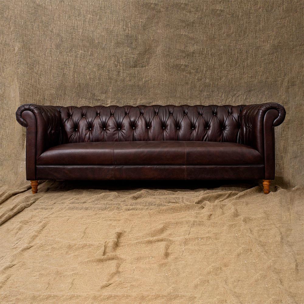 Трехместный диван Dark Lily 3 Seats в лофт