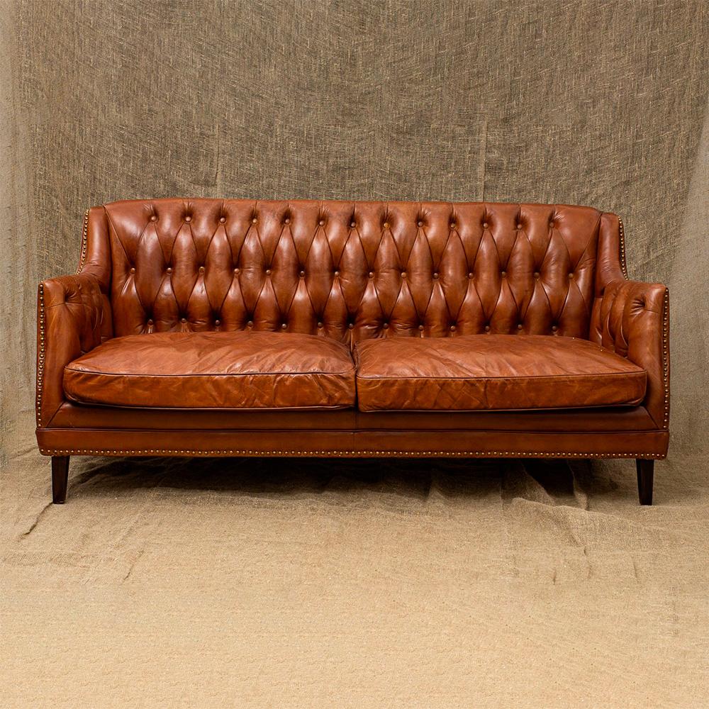 Трехместный диван Royal Dark Leather